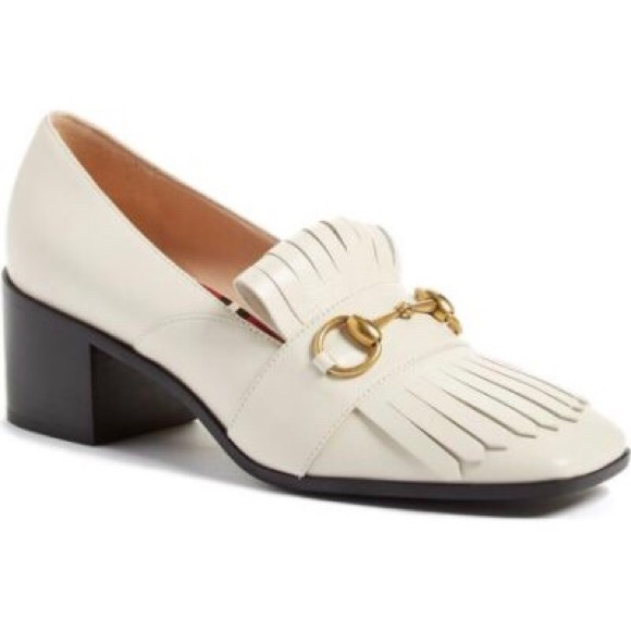5a3696069a0 NIB Gucci AUTHENTIC Polly Kiltie Loafer 55mm Heels